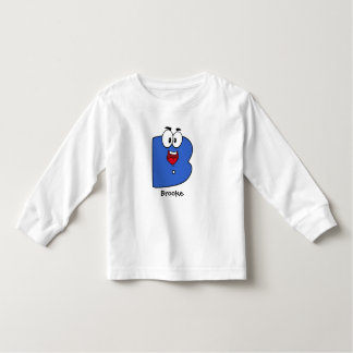 Blue Cute Funny Fappy Letter B Character T Shirt