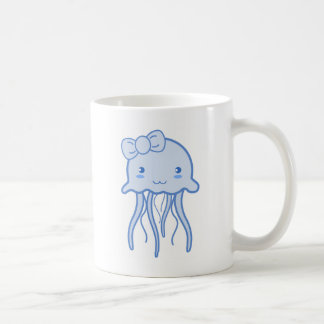 Blue Cute Jellyfish Mugs