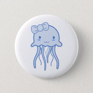 Blue Cute Jellyfish Pinback Button