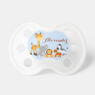 Blue Cute Jungle Baby Animal Pacifier
