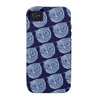 Blue cute owl picture iPhone 4 cover