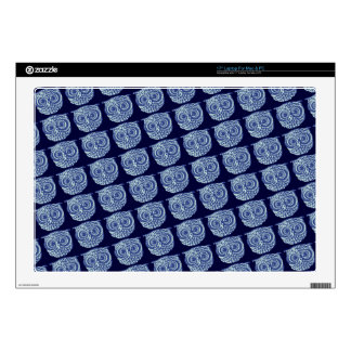 """Blue cute owl picture decal for 17"""" laptop"""