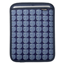 Blue cute owl picture sleeve for iPads