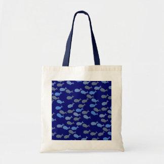 blue cute whales tote bag