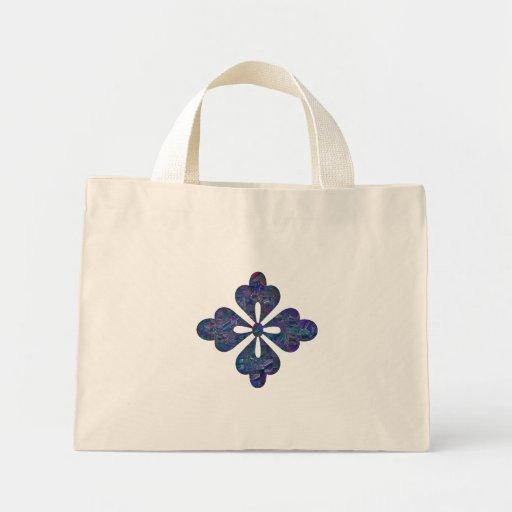 Blue Cutout Design Tote Bag