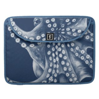 Blue Cyan Octopus Art MacBook Pro Sleeve