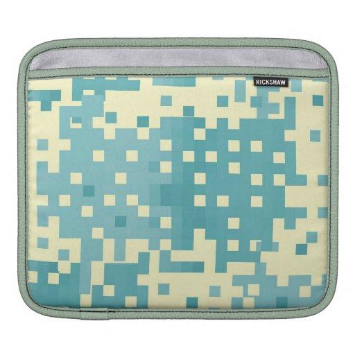 Blue & Cyan Pixel Pattern Sleeve For iPads