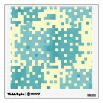 Blue & Cyan Pixel Pattern Wall Sticker