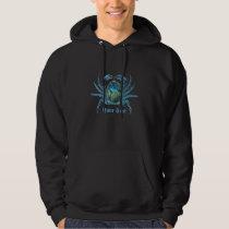 Blue  Cyborg Crab Customizabl Hoodie
