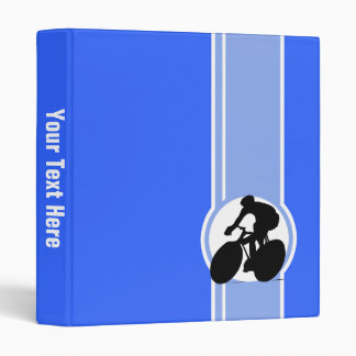 Blue Cycling Vinyl Binder