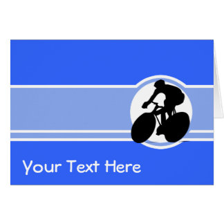 Blue Cycling Greeting Card