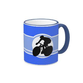 Blue Cycling Coffee Mug