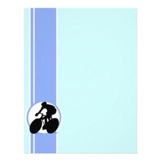 Blue Cycling Letterhead Template
