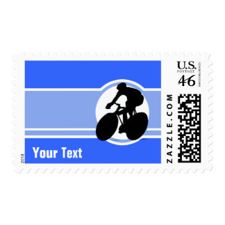 Blue Cycling Postage