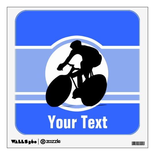 Blue Cycling Wall Decal