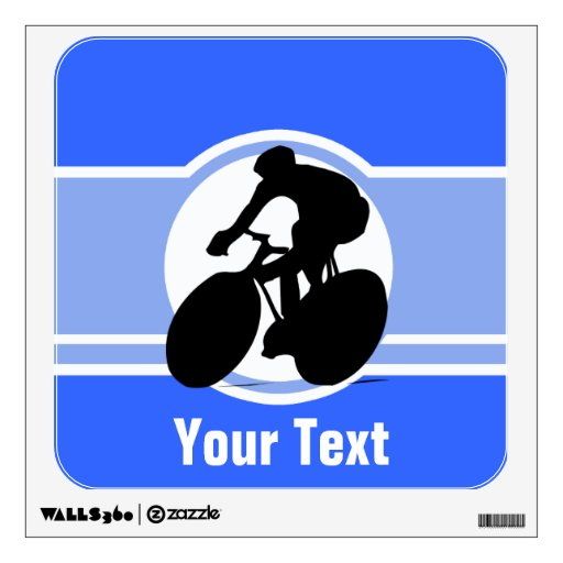 Blue Cycling Wall Stickers