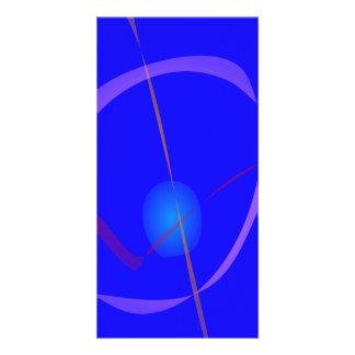 Blue Cygnus Abstract Art Photo Card