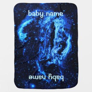 Blue Cygnus Loop Nebula outer space picture Stroller Blanket