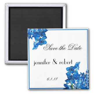 Blue Cymbidium Boat Orchid Save the Date Magnet
