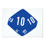 Blue D10 Table Number Card Personalized Announcement