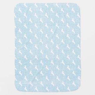 Blue Dachshund Print Stroller Blanket
