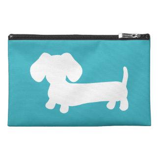 Blue Dachshund Travel Accessory Bag