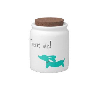 Blue Dachshund   Treat or Cookie Jar Candy Jars