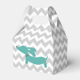 Blue Dachshund Wiener Dog Baby Shower Gift Box