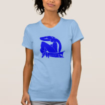Blue Dachshund with Nude t-shirts