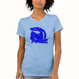 Blue Dachshund with Nude Tee Shirt