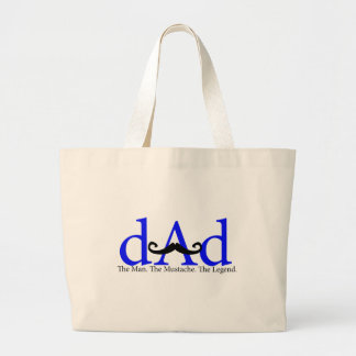 Blue Dad Curly Mustache Bags
