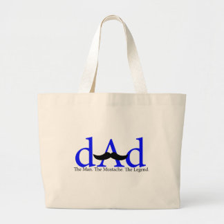 Blue Dad Mustache Bags
