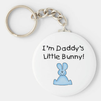 Blue Daddy's Little Bunny T-shirts and Gifts Keychain