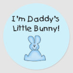 Blue Daddy's Little Bunny T-shirts and Gifts Round Sticker