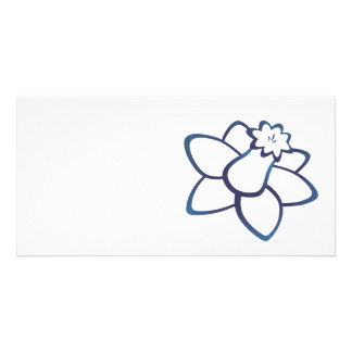 Blue Daffodil Customized Photo Card