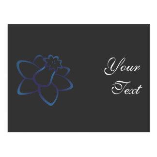 Blue Daffodil Postcard
