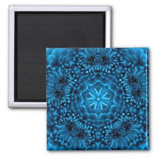 BLUE DAHLIA 2 INCH SQUARE MAGNET