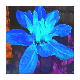 Blue Dahlia Gallery Wrapped Canvas