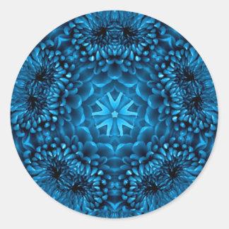 BLUE DAHLIA CLASSIC ROUND STICKER
