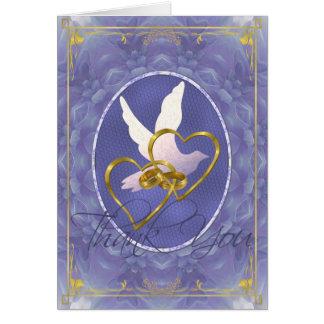 Blue Dahlia Dove - Thank You Card