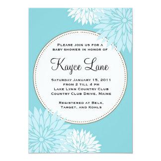 Blue Dahlia Invitation