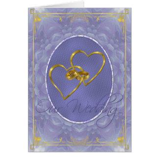 Blue Dahlia - Our Wedding Card