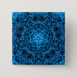 BLUE DAHLIA PINBACK BUTTON
