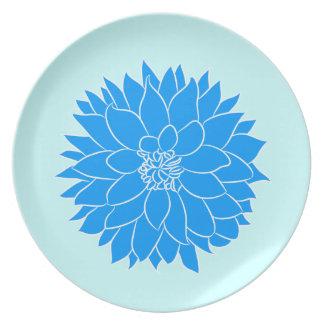 Blue Dahlia Plate