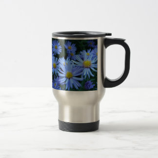 Blue Daisie Flowers Travel Mug