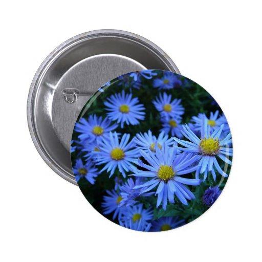Blue Daisies 2 Inch Round Button