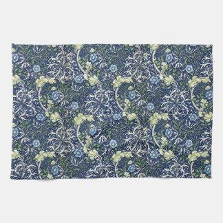 Blue Daisies by William Morris Towel