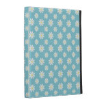 Blue Daisies Floral Pattern iPad Folio Case