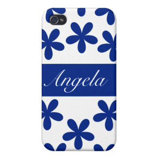 Blue Daisies Hard Shell Case for iPhone 4/4S