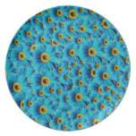 Blue Daisies Party Plate